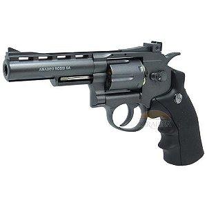 "Revolver de Pressão Gas CO2 6 Tiros 4"" Oxidado Rossi Full Metal M701 4,5mm - Wingun"
