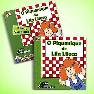 O Piquenique de Lila LIloca + Livro de Colorir