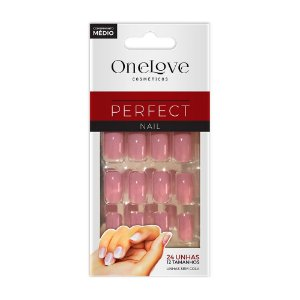 UNHA POSTIÇA SEM COLA ONE LOVE PERFECT NAIL MIST SC - 5077