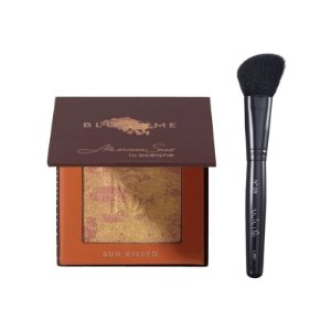 KIT BLUSH ME MARIANA SAAD SUN KISSED DOURADO + PINCEL PARA BLUSH VULT N09 CHANFRADO