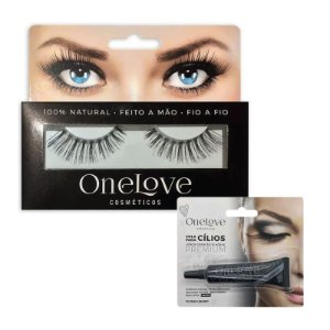 KIT PAR DE CÍLIOS VOLUME EFFECT 4 ONE LOVE + COLA DE CÍLIOS PRETA 7g