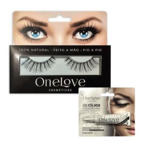 KIT PAR DE CÍLIOS VOLUME EFFECT 4 ONE LOVE + COLA DE CÍLIOS BRANCA 7g