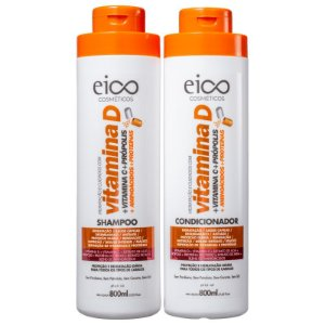 KIT EICO SHAMPOO + CONDICIONADOR VITAMINA D  800ml - 0268