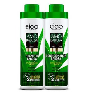 KIT EICO SHAMPOO + CONDICIONADOR BABOSA  800ml - 6510