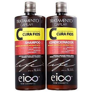KIT EICO SHAMPOO + CONDICIONADOR CURA FIOS 1L - 6312