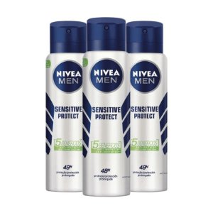 KIT 3 DESODORANTES AEROSOL NIVEA MEN SENSITIVE PROTECT 150ml - 9807