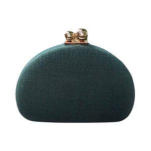 Bolsa Clutch Verde Meia Lua