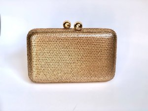 Bolsa Clutch Dourada Aplicação Cristais