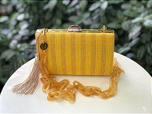 Bolsa Clutch Textura Amarela