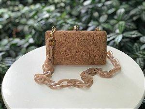 Bolsa Clutch Textura Cortiça