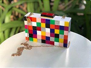 Bolsa Clutch de Acrílico Colorido | JUÁ CONCEPT