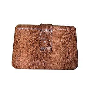Bolsa Clutch Cor Caramelo (textura piton)