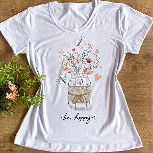 BE HAPPY BORBOLETAS E FLORES