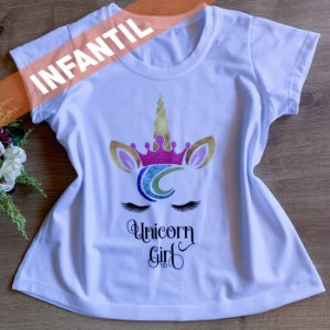T-SHIRT INFANTIL UNICORNIO GIRL