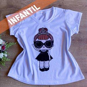 T-SHIRT INFANTIL MENINA COROA
