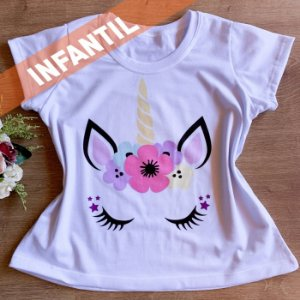 T-SHIRT INFANTIL UNICORNIO FLOR