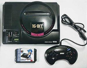 Console Mega Drive Japonês (inclui flashcard com 800 jogos)