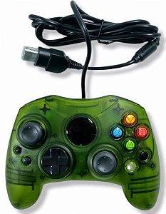 Controle verde translúcido - Xbox Clássico
