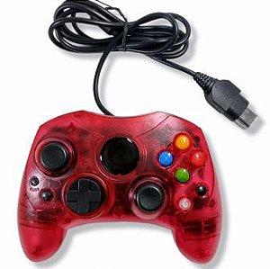 Controle vermelho translúcido - Xbox Clássico