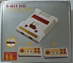 Famicom NES (clone) HDMI, 2 controles s/ fio e 500 jogos