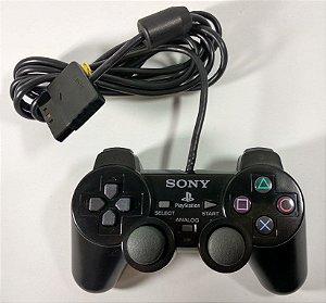 Controle Original Preto - PS2