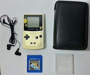 Game Boy Color + Pokemon Blue + Fone de Ouvido - GBC