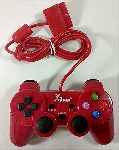 Controle (Vermelho) - PS1 ONE/ PS2