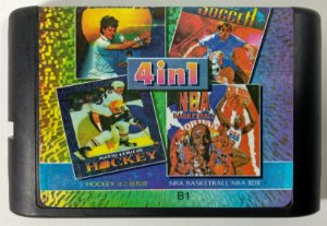 4 in 1 (Soccer - Basket - Tennis - Hockey) - Mega Drive