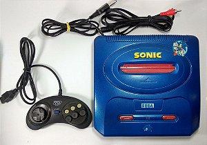 Console Mega Drive 3 com 30 jogos na memória