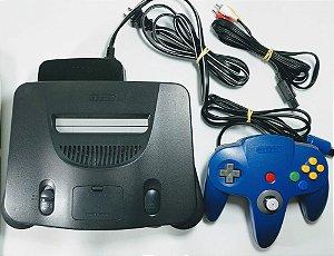 Console Nintendo 64 (Inclui Flashcard com 350 jogos)