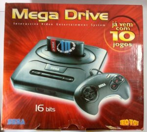 Mega Drive 3 + 10 Jogos