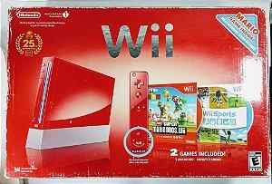 Nintendo Wii Edição 25 anos Super Mario