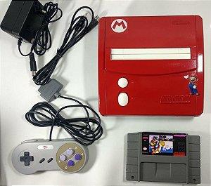 Super Nintendo Baby Personalizado Mario + 2 jogos - SNES