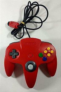 Controle Original Vermelho - N64