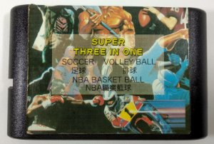 3 in 1 (Soccer Volley Ball - Basket Ball)  - Mega Drive
