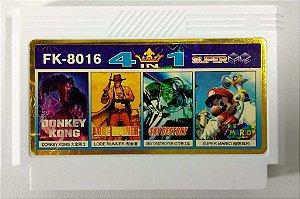 4 in 1 (Super Mario - Donkey Kong - Lode Runner - Sky) - NES