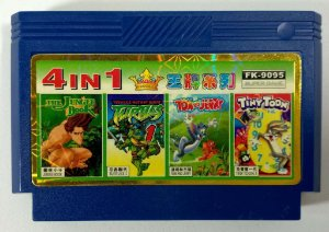 4 in 1 (Jungle book - Turtles - Tom e Jerry - Tiny Toon) - NES