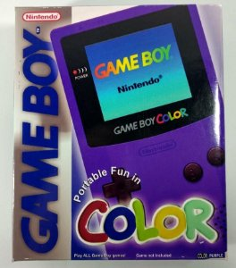 Caixa Game Boy Color Roxa [Replica] - GBC