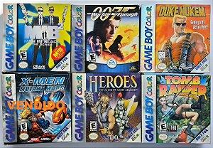 Jogos Originais com caixa (cada) - Game Boy Color