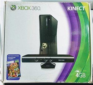 Xbox 360 Slim 4GB com Kinect (LACRADO) - Xbox 360
