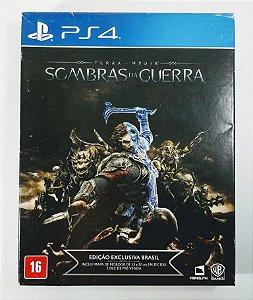 Jogo Terra-média Sombras da Guerra ed. exclusiva Brasil - PS4