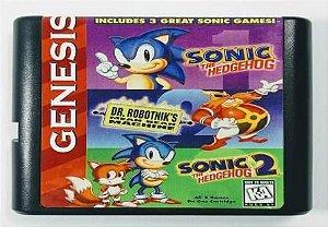 Jogo 3 in 1 Sonic Classics - Mega Drive