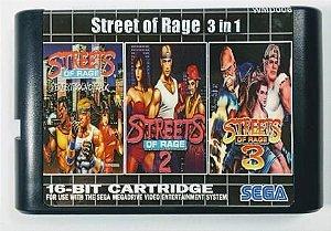 Jogo 3 in 1 Streets of Rage - Mega Drive