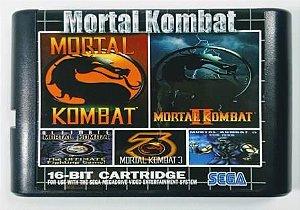 Jogo 5 in 1 Mortal Kombat - Mega Drive