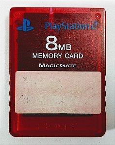 Memory Card (vemelho) Original - PS2