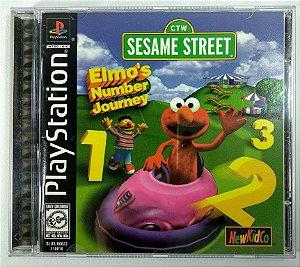 Jogo Sesame Street Elmos Number Journey Original  - PS1 ONE