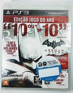 Jogo Batman Arkham City edição jogo do ano (Lacrado) - PS3