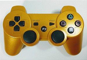 Controle sem fio Dourado - PS3