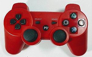 Controle sem fio Vermelho - PS3
