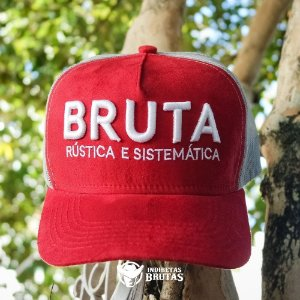 Boné Bruta Rústica e Sistemática Bordo e Cinza